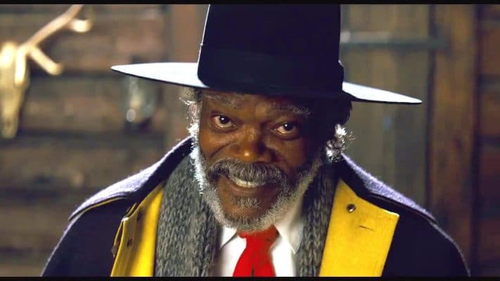 Samuel L. Jackson en The hateful eight, de Quentin Tarantino